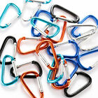 100PCS Wholesale Aluminium Carabiners D Rings Spring Belt Clip Hook Key chain