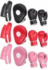 Boxing Focus Pads Jab & Hook Kids Set Sparring Target Junior Punching Bag Mitts