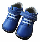 Girls/Boy's Squeaky Infant Toddler Children's Boots Blue &White 'SPECIAL OFFER'