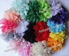 Wholesae lots 20pc 18color pick Chiffon Peony artificial flower Sewing Appliques