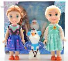 "Playset Frozen Princess Elsa Anna Olaf 7"" Doll Figures 3PCS Birthday Gift"