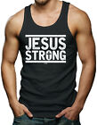 Jesus Strong - Religious Christian God Men's Tank Top T-shirt