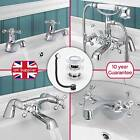 STAFFORD CHROME BATHROOM SINK BASIN MONO MIXER, BATH FILLER, SHOWER TAP SET