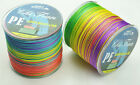 Dyneema 300M PE Strong Braid Fishing Line 4 Strand MultiColor 12LB-140LB Spectra