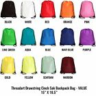 drawstrings bags - Drawstring Backpack Cinch Sack Bags VALUE 15