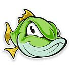 2 x Fish Vinyl Sticker iPad Laptop Car Bike Fishing Box Tackle Dad Gift #9120