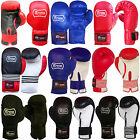 10 OZ REX LEATHER BOXING GLOVES TRAINING SPARRING PUNCHBAG GLOVES YOUTH