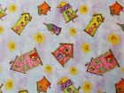 Spectix SPX Birdhouse Gardens Floral Birdhouses Fabric Fat Quarter By the Yard