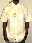 Quiksilver Button Up New Mens White Normandy Beach Floral Shirt Size XL