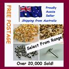Lot of 100 Upholstery Nail Furniture Tacks Studs Ranges Brass, Silver, Bronze Pl