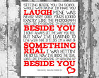 Paolo Nutini Growing Up Beside You Canvas Song Lyric Wall Art Print  Typography