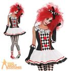 Adult Harlequin Honey Costume Ladies Jester Clown Halloween Fancy Dress Outfit