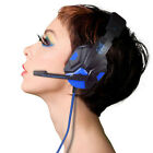 USB 3.5mm LED Surround Stereo Gaming Headband Headset Headphones With Mic For PC