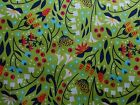Timeless Treasures Quilting Fabric Green Samara Floral Fat Quarter, By the Yard