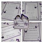 Handmade BUTTERFLY wedding signs :9 designs, 60 colours, fully personalised