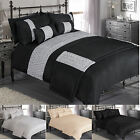 """PRETORIA""  Luxury Duvet Quilt Cover Bedding Set In A Choice Of  Colours & Sizes"