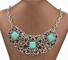 Corann Silver Turquoise Filigree Necklace  US SELLER! Armoire Jolie