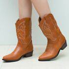 SheSole Womens Cowboy Cowgirl WesternBoots Vintage Bridal Shoes Tan