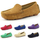 Plain Childs Boy Girls Slip On Casual Solid Color Loafers Soft Flats Shoes A