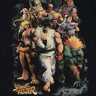 Street Fighter Group Pose Gamer Tee Capcom / Black T-Shirt / Sizes - M,L,XL