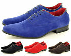 New Mens Casual Formal Lace Up Brogue Fashion Faux Suede Shoes In UK Sizes 6-12