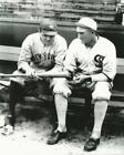 Baseball NY Yankees Babe Ruth and White Sox Shoeless Joe Jackson Photo Picture