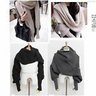 Women Men Winter Warm Soft Knitting Wool Scarf With Sleeve Wrap Shawl Scarves