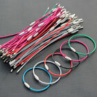 "Colorful Stainless Steel Wire Keychains Cable Screw Clasp Key Ring 15.5cm 6"" 2mm"