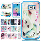 Fancy Patterns Card Holder Leather TPU Case Kickstand Cover For Samsung Galaxy