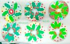 Handmade CD Drink Coasters Flower Fruit Leaves Holly Tropical Hand Fish Confetti