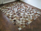 NEW COWHIDE PATCHWORK RUG LEATHER CARPET cu_510