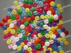 Lots 12color Pick Resin Sewing Small Mini Diy dolls kids craft buttons 5mm 0.2In