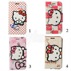 HelloKitty Cartoon Leather Wallets Case Cover For Samsung Galaxy S6 & S6 Edge