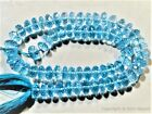 Micro Faceted Blue Topaz Rondelle 7-8.5mm (5/12 beads) (Select-A-Size) A++