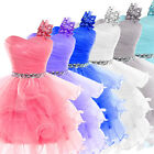 TUTU Teens Short mini Prom Evening Homecoming Gowns Cocktail Party Girls Dresses