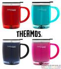 NEW THERMOS 450ml STAINLESS STEEL DESK MUG Insulated Cup Coffee Tea 4 COLOURS