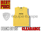 *CLEARANCE* MITRE CORE TRAINING BIBS PACK OF 25 - YELLOW - SMALL MENS