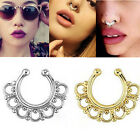 1Pc Non-Piercing Nose Ring Fake Gem Septum Ring  Hanger Clip Jewelry Body UK14