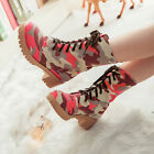 Novel Women Vintage Big Flower Boots Martin Boots Motorcycle Boots Shoes UK FO