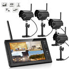 1x2x4 HD 4CH Outdoor Digital Wireless DVR CCTV camera Home Security System