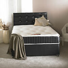 5FT KINGSIZE LEATHER DIVAN BED + MEMORY MATTRESS + HEADBOARD KING BED