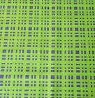 Lime Green Purple Plaid Pattern Quilting Fabric Sewing By the Yard Fat Quarter