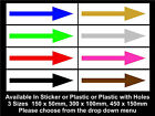 Directional Arrows Door Signs / Stickers - All Colours, Sizes & Materials,