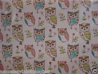 FRYETT'S FABRICS HOOT OWLS SAGE NEW PVC/VINYL/OILCLOTH TABLECLOTH NOVELTY