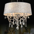 Pendant Light Ceiling Fixture Colourful Shaded Clear Crystal Chandelier Chrome