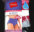 Womens Hanes 6 Pack 100% Cotton Briefs Underwear Panties Lady's ALL SIZES 6-10