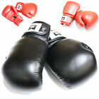 Boxing Gloves Red Black Martial Arts Training Sparring Hook & Loop Wrist Wraps