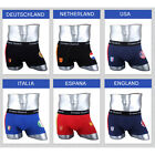 NEW Young Mens Sexy Underwear Boxer Briefs shorts Cotton Trunks National Flag