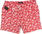 "PIERRE CARDIN ""Swimwear Paisley"" mens surf board shorts swim trunks (red) NEW"