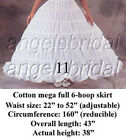 BRIDAL PETTICOAT CRINOLINE HOOP SKIRT WEDDING GOWN SLIP HALLOWEEN COSTUME DRESS